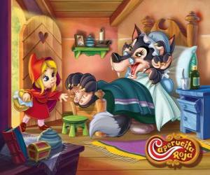 Rotkäppchen geht an Omas Haus puzzle