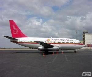 Royal Khmer Airlines war eine Aeroliniea von Kambodscha (2000-2004) puzzle