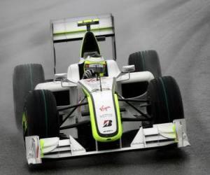 Rubens Barrichello der seinen F1 puzzle