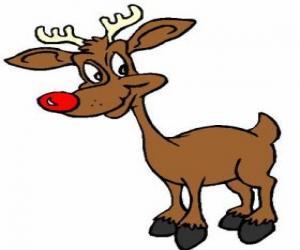 Rudolf, der roten nase reindee puzzle