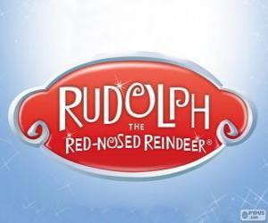 Rudolph das Rentier mit der roten Nase-logo puzzle