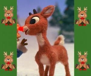 Rudolph, das rotnasige rentier puzzle