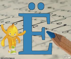 Russischen Buchstaben Ё puzzle