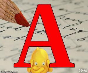 Russischen Buchstaben А puzzle