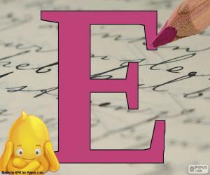 Russischen Buchstaben Е puzzle