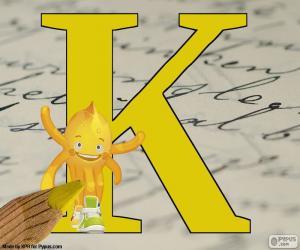 Russischen Buchstaben К puzzle