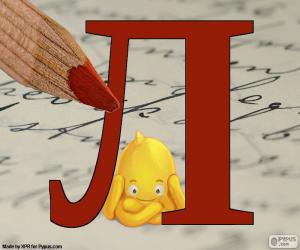 Russischen Buchstaben Л puzzle