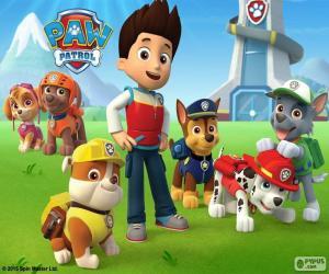 Ryder und Hunde Paw Patrol puzzle