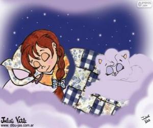 Süße Träume. Zeichnung von Julieta Vitali puzzle