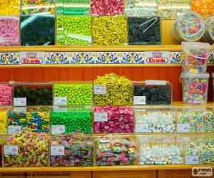 Süßigkeiten Geschäft puzzle