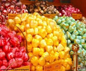 Süßigkeiten und seine Farben puzzle