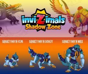 Sabretooth Cub, Sabretooth Scout, Sabretooth Max. Invizimals Schattenzone. Der Vormund des Parks, die davon ein Superheld Träume puzzle