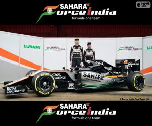 Sahara Force India F1-2016 puzzle