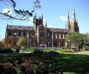 Saint Mary's Cathedral, Sydney, Australien puzzle