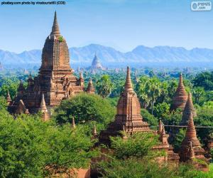 Sakralbauten von Bagan, Myanmar puzzle