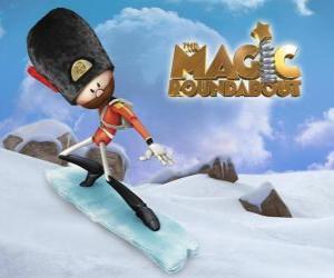 Sam, der animierten hölzernen Soldaten, der böse Zauberer Zeebad dient puzzle