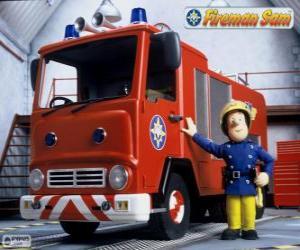 Sam neben Jupiter das Feuerwehrauto puzzle
