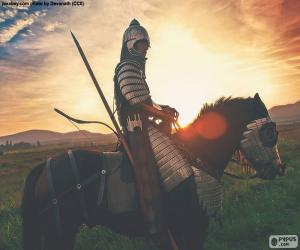 Samurai auf dem Pferderücken puzzle