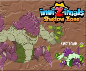Sanctacaris. Invizimals Schattenzone. Die ersten Dinosaurier, die ihre Hände benutzt, um zu kämpfen puzzle