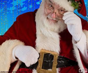 Santa Claus beobachtet puzzle