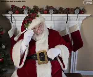 Santa Claus, Kamin puzzle
