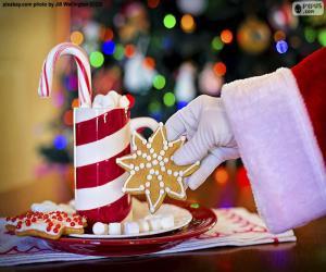 Santa Claus und Süßigkeiten puzzle