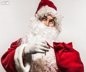 Santa Claus Weihnachtsgeschenke zufrieden puzzle