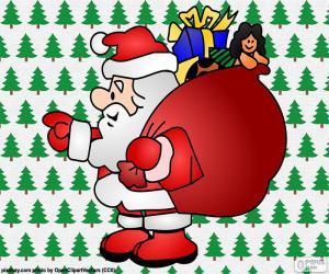 Santa Claus, Zeichnung puzzle