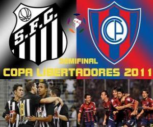 Santos FC - Cerro Porteño. Halbfinale der Copa Libertadores 2011 puzzle