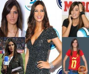 Sara Carbonero ist Journalistin spanische Sportzeitung. puzzle