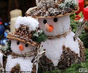 Schöne Schneemänner puzzle