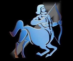 Schütze. Der Zentaur, der Bogenschütze. Neuntes Zeichen des Tierkreises. Lateinischer Name ist Sagittarius puzzle