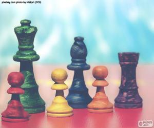 Schachfiguren puzzle