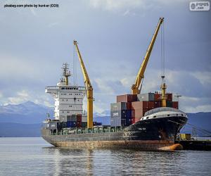 Schiff an der Laderampe puzzle