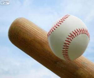 Schläger und Ball baseball puzzle