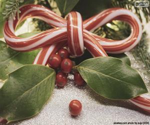 Schleife, Weihnachten Zuckerrohr puzzle