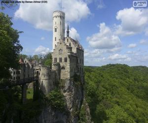 Schloss Lichtenstein, Deutschland puzzle