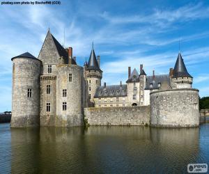 Schloss Sully-sur-Loire, Frankreich puzzle