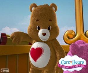 Schmusebärchi, der kleine Bär mit Herz über den Bauch puzzle