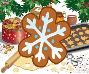 Schneeflocke-Keks puzzle