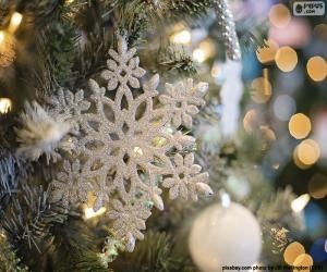 Schneeflocke ornament puzzle