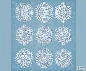 Schneeflocken puzzle