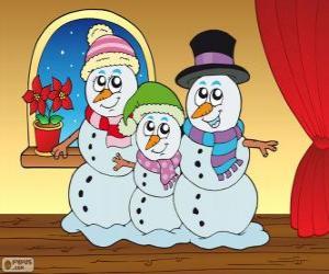 Schneemänner Familie puzzle