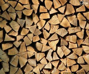 Schneiden von Holz puzzle