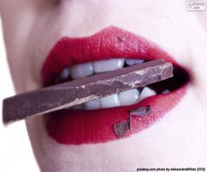 Schokolade essen puzzle
