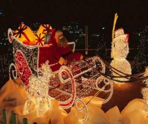 Schöne Weihnachten schlitten voller Weihnachtsgeschenke puzzle