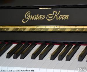 Schwarzes Klavier puzzle