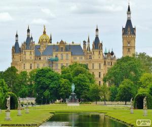 Schweriner Schloss, Deutschland puzzle
