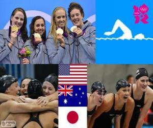 Schwimmen 4x100m Lagenstaffel London 2012 puzzle