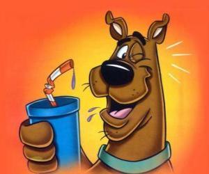 Scooby-Doo mit einem Getränk puzzle